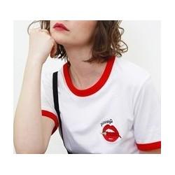 T-Shirt Piccante Blanc Col...