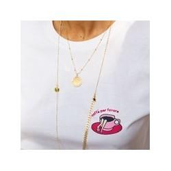 T-shirt Femme/ Café