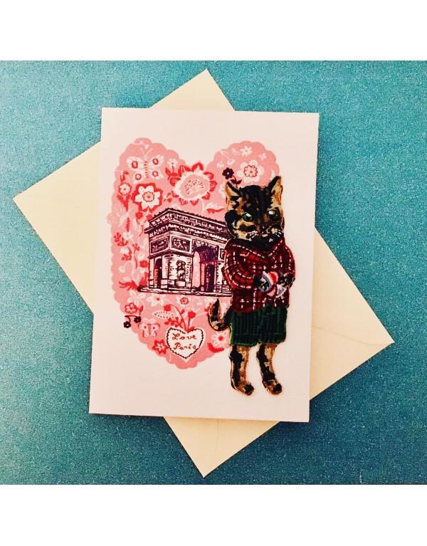 Carte postale, écusson...