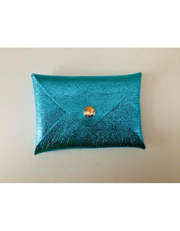 Porte cartes Origami/ bleu