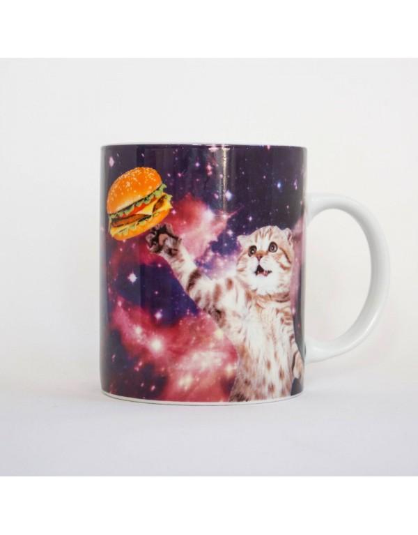 Mug/ Chat ,hamburger dans...