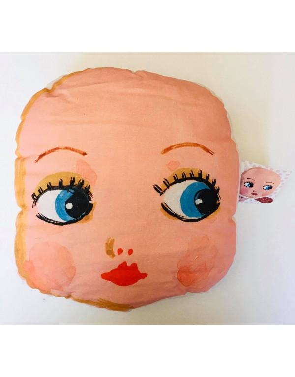 """Coussin """"Dolls"""":Bébé face"""