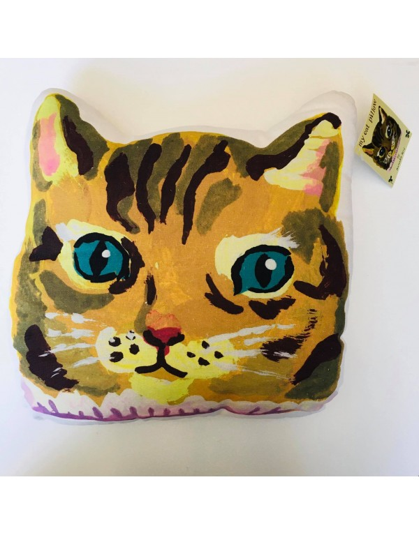 """Coussin """"Chat ocre"""""""