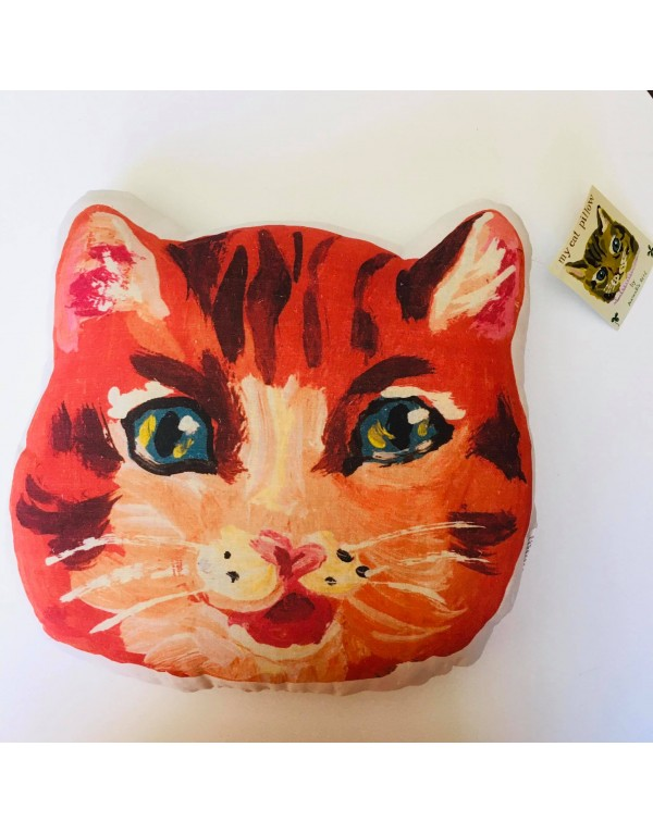 """Coussin """"Chat roux"""""""