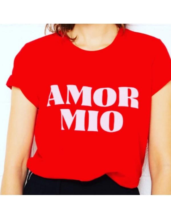 T-Shirt / Amor Mio rouge