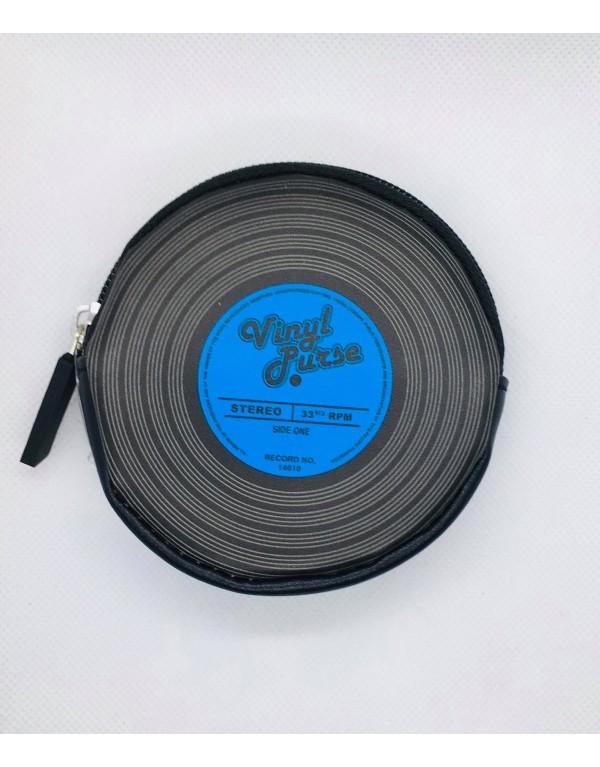 Porte monnaie /Vinyle (bleu)